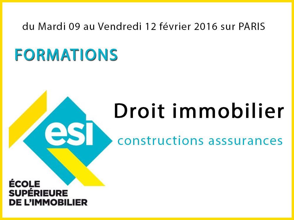 Stage d'intégration Droit immobilier constructions asssurances à Paris