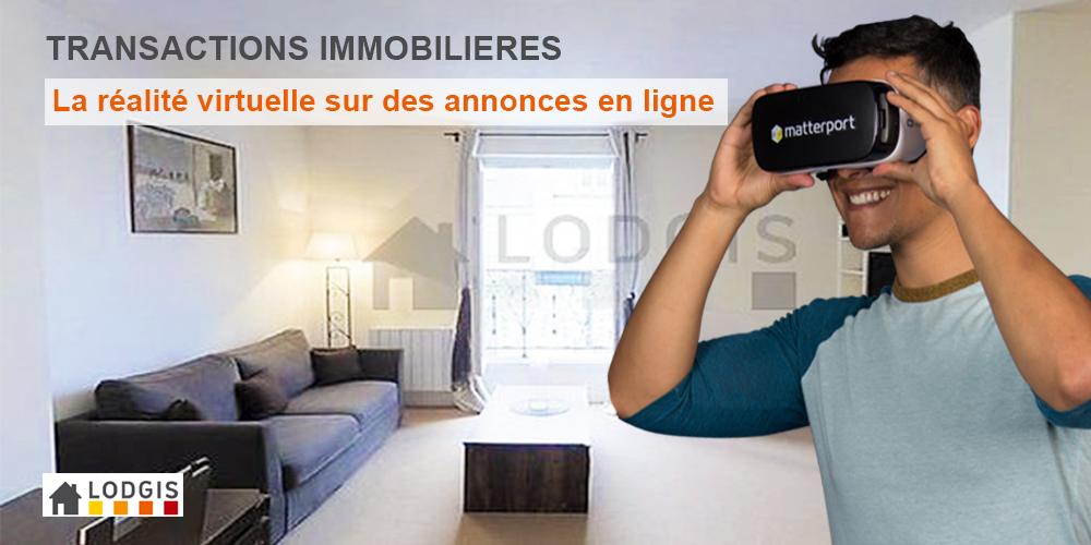 Transaction immobilère: la réalité virtuelle sur des annonces en ligne avec Lodgis