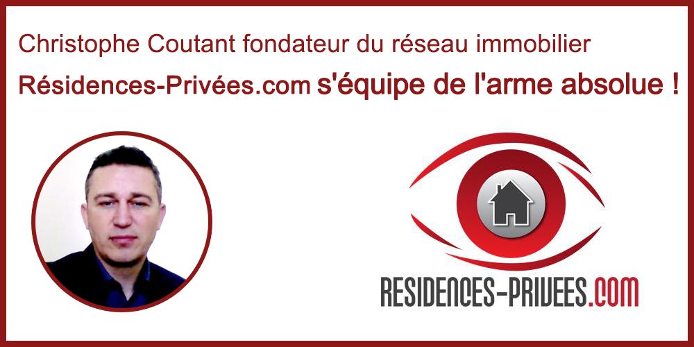 Christophe Coutant fondateur de Résidences-Privées.com s'équipe de l'arme absolue : Le Logiciel immobilier Drive Fox